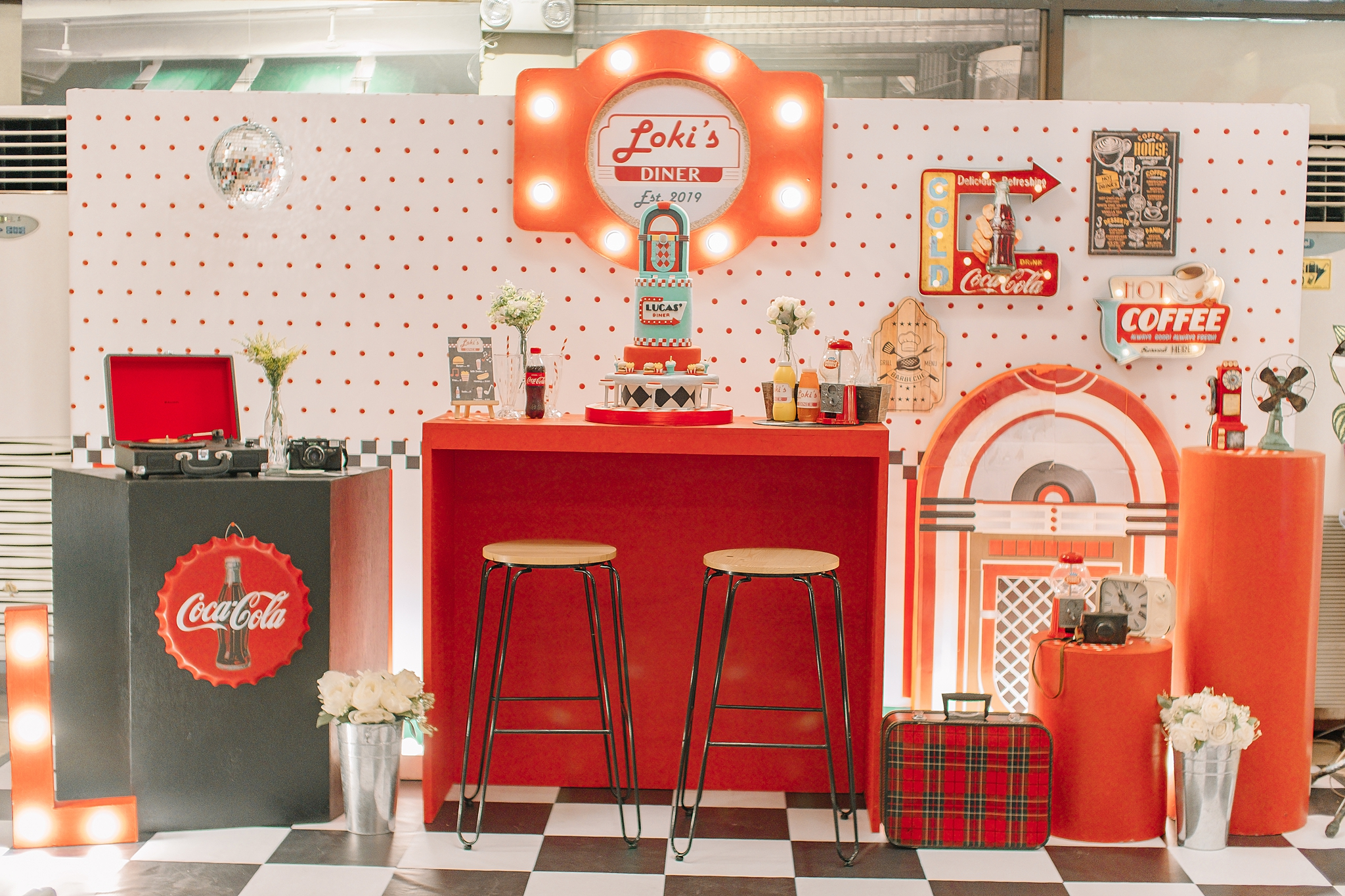 Retro Diner 1st Birthday For Lucas Style It Dainty